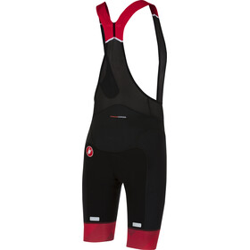 Castelli Free Aero Race Bib Shorts Heren rood/zwart